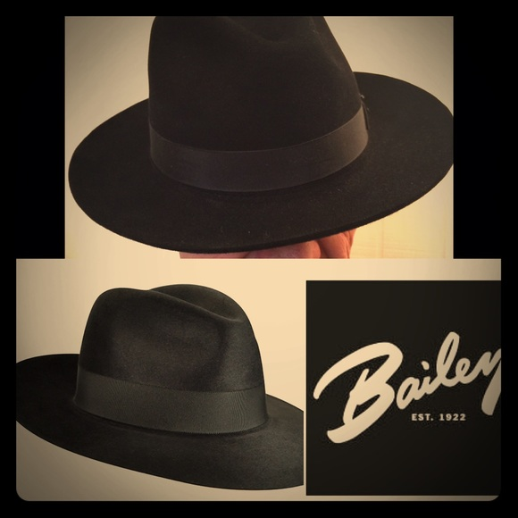 3161306d6d07ae Bailey Of Hollywood Accessories | Bailey Black Fedora Hat Superior ...